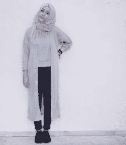 Hijab Cardigan Jeans Panjang