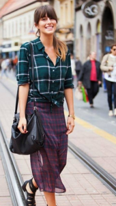 outfit plaid patern