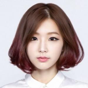 Gaya rambut pendek oval Bob Korea
