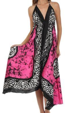 Batik dress dengan desaign yang modern.