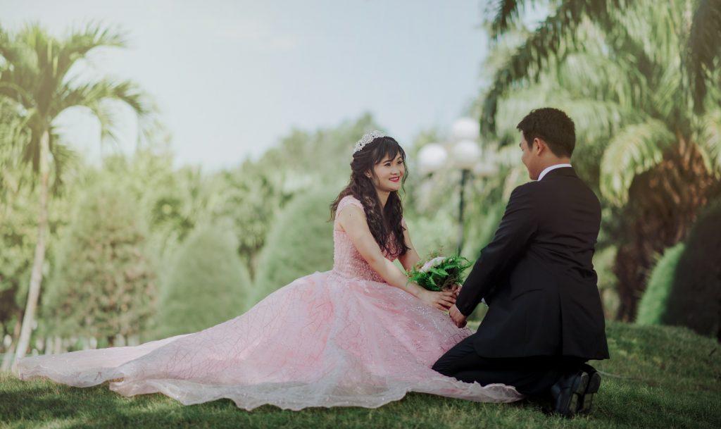 Foto Prewedding dengan tema romantis
