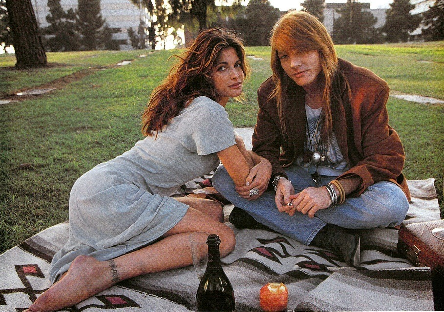 Axl Rose with Stephanie Seymour