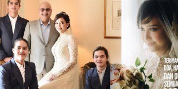 foto pernikahan romantis maia estianty