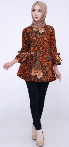 model baju batik kantor lengan panjang  model baju batik kantor wanita lengan panjang modern batik kerja