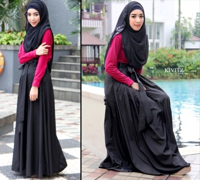 Pakaian Syari dengan rok dan kaos