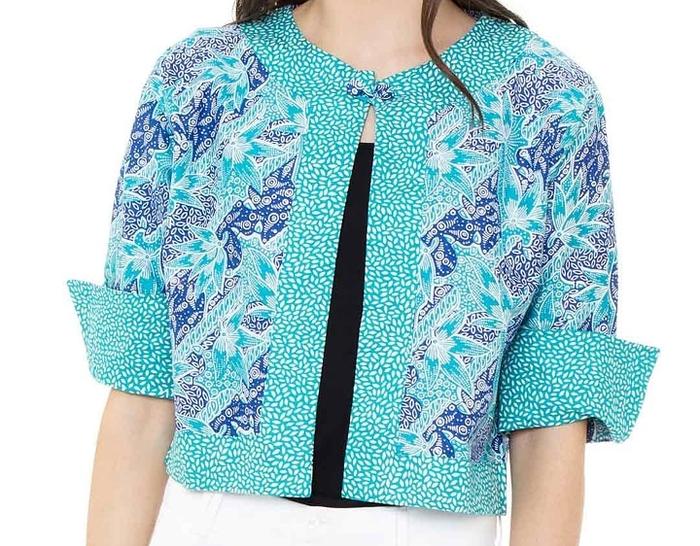 Batik Outer Biru Muda