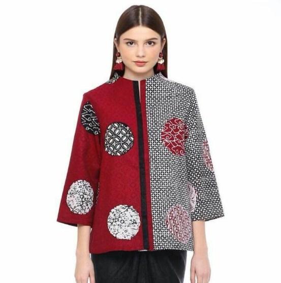 Baju Batik Wanita Lengan Panjang dua warna