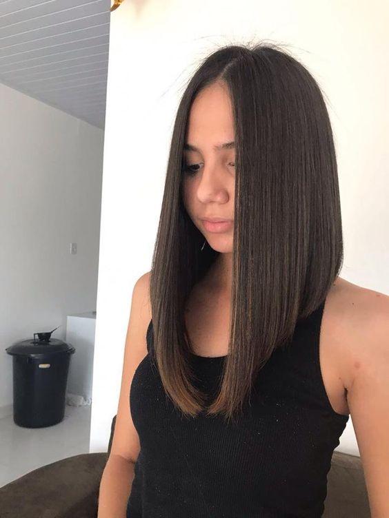 Gaya rambut long bob wanita terbaru