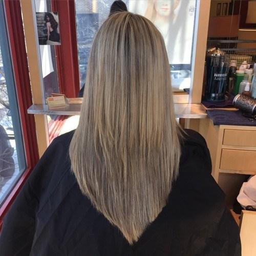 Model rambut wanita V Cut Hairstyle